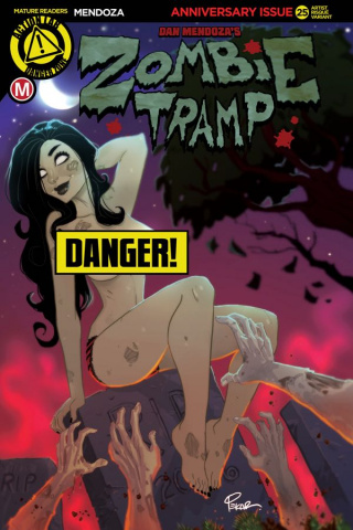 Zombie Tramp #25 (Pekar Risque Cover)