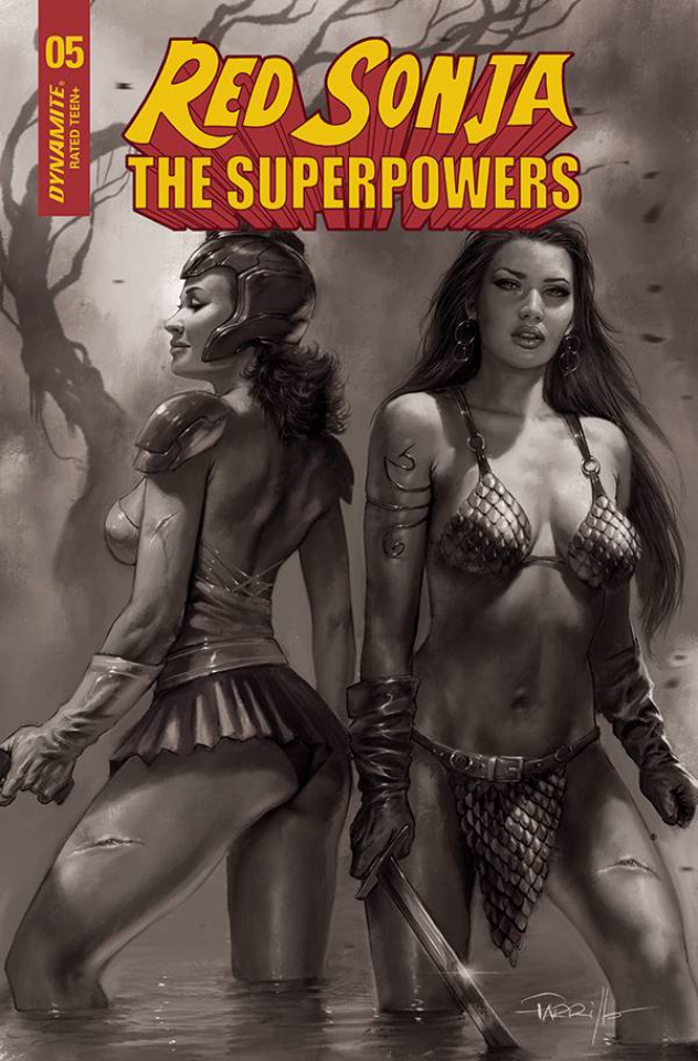 Red Sonja: The Superpowers #5 (30 Copy Parrillo B&W Cover)