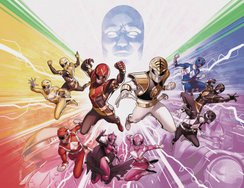 Mighty Morphin' Power Rangers #50 (Foil Wraparound Cover)