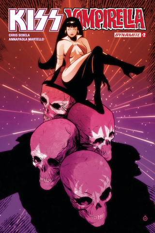 KISS / Vampirella #2 (Doe Cover)