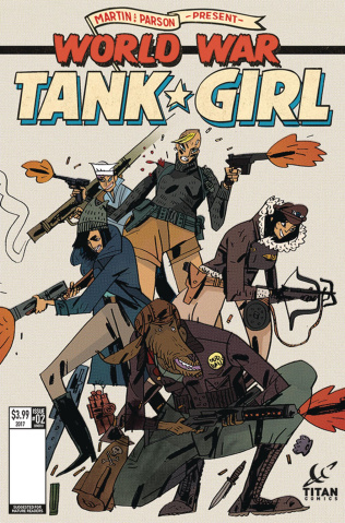 Tank Girl: World War Tank Girl #2 (Cadwell Cover)
