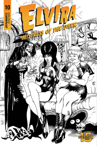 Elvira: Mistress of the Dark #10 (11 Copy Castro B&W Cover)