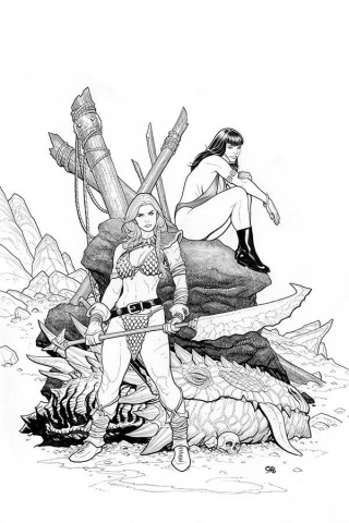 Vampirella / Red Sonja #3 (25 Copy Cho B&W Virgin Cover)