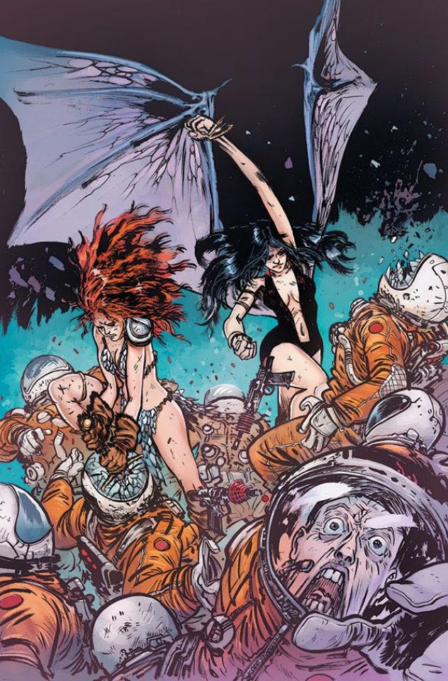 Vampirella / Red Sonja #3 (15 Copy Johnson & Spicer Color Virgin Cover)