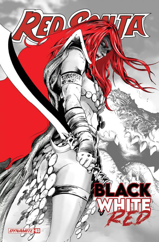 Red Sonja: Black, White, Red #3 (Lau Cover)