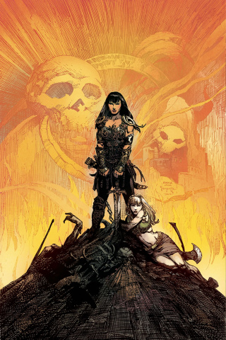 Xena #2 (10 Copy Finich B&W Cover)