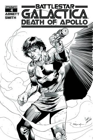 Battlestar Galactica: Death of Apollo #4 (15 Copy Syaf B&W Cover)