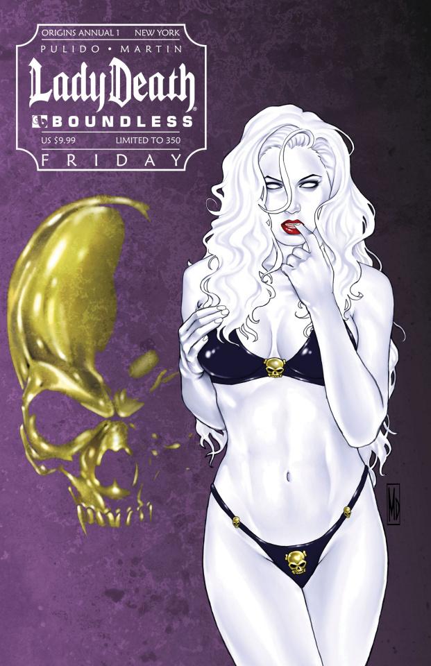 Lady Death Origins Annual #1 (New York Friday Cover)