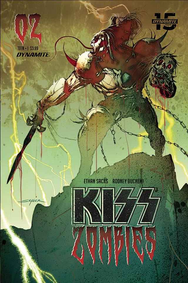 KISS: Zombies #2 (Sayger Cover)