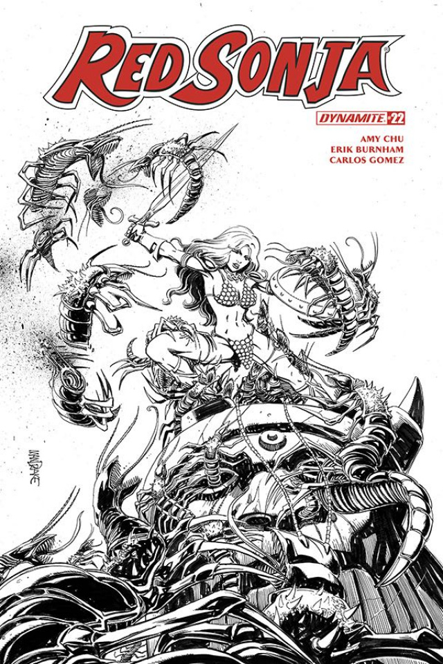 Red Sonja #22 (25 Copy Mandrake B&W Cover)