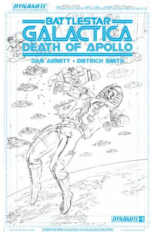 Battlestar Galactica: Death of Apollo #1 (Rare Mayhew Artboard Cover)