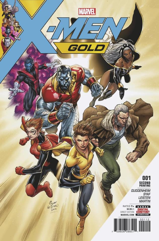 X-Men: Gold #1 (Syaf 2nd Printing)