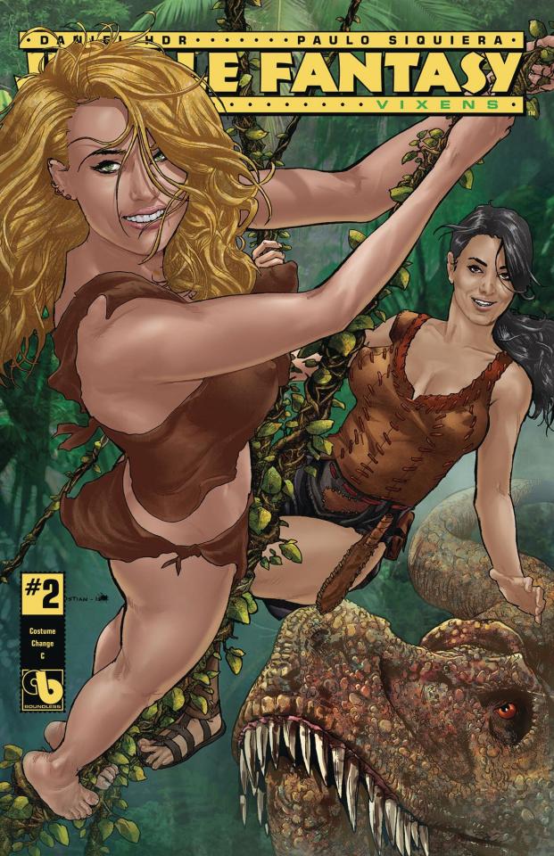 Jungle Fantasy: Vixens #2 (Costume Change Cover)