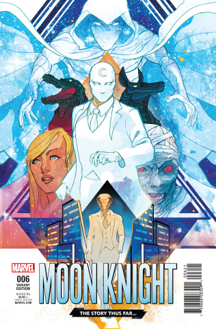 Moon Knight #6 (Ward Story Thus Far Cover)