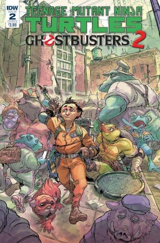 Teenage Mutant Ninja Turtles / Ghostbusters 2 #2 (Tunica Cover)