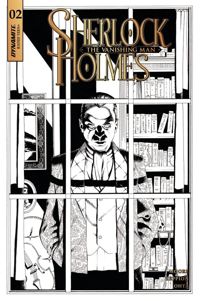 Sherlock Holmes: The Vanishing Man #2 (20 Copy Cassaday B&W Cover)