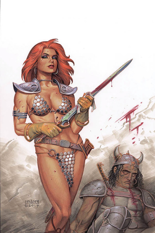 Red Sonja #13 (Linsner Virgin Cover)