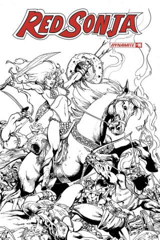 Red Sonja #16 (Castro B&W Bonus Cover)