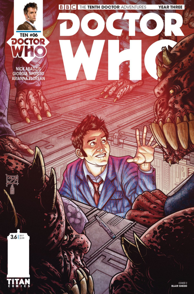 Doctor Who: New Adventures with the Tenth Doctor, Year Three #6 (Shedd Cover)