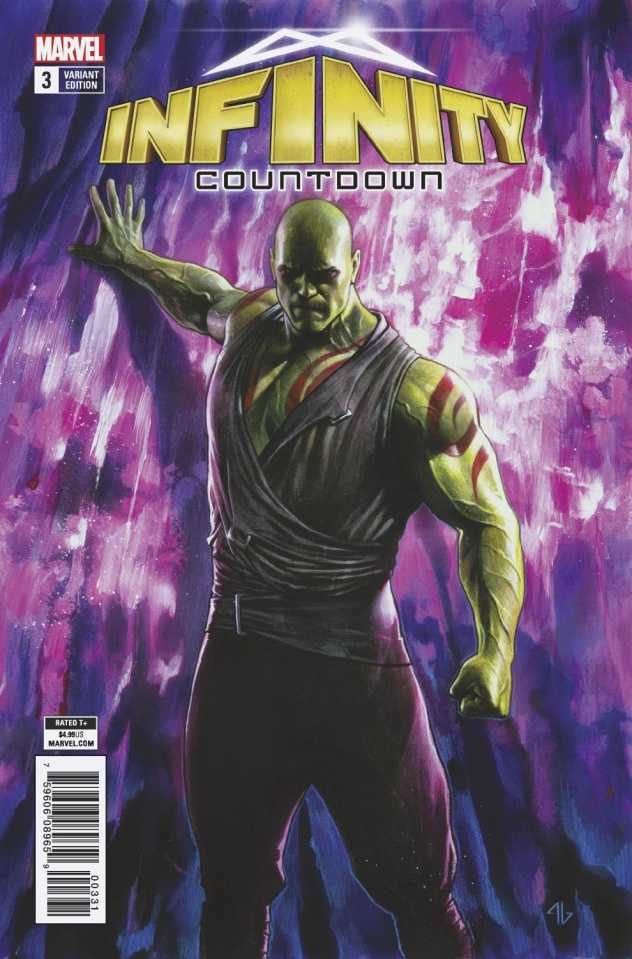 Infinity Countdown #3 (Drax Holds Infinity Stone Cover)