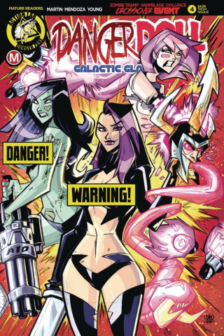 Danger Doll Squad: Galactic Gladiators #4 (Marcelo Risque Cover)