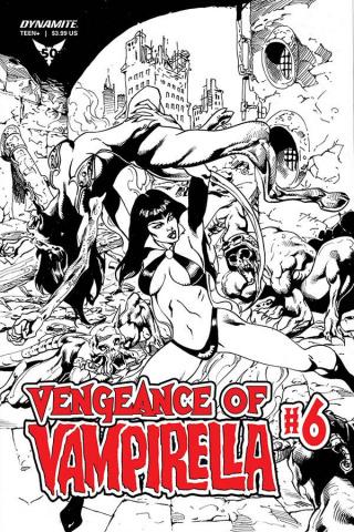 Vengeance of Vampirella #6 (11 Copy Castro B&W Cover)