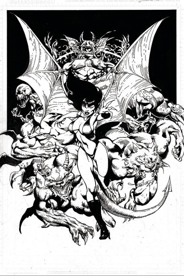 Vengeance of Vampirella #12 (21 Copy Castro B&W Virgin Cover)