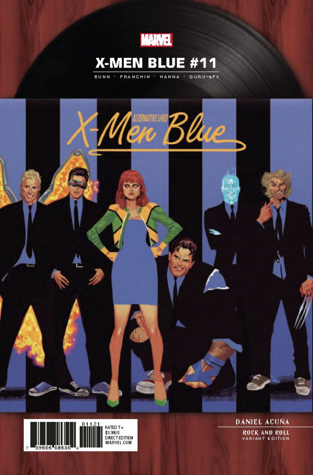 X-Men: Blue #11 (Acuna Rock 'N Roll Cover)