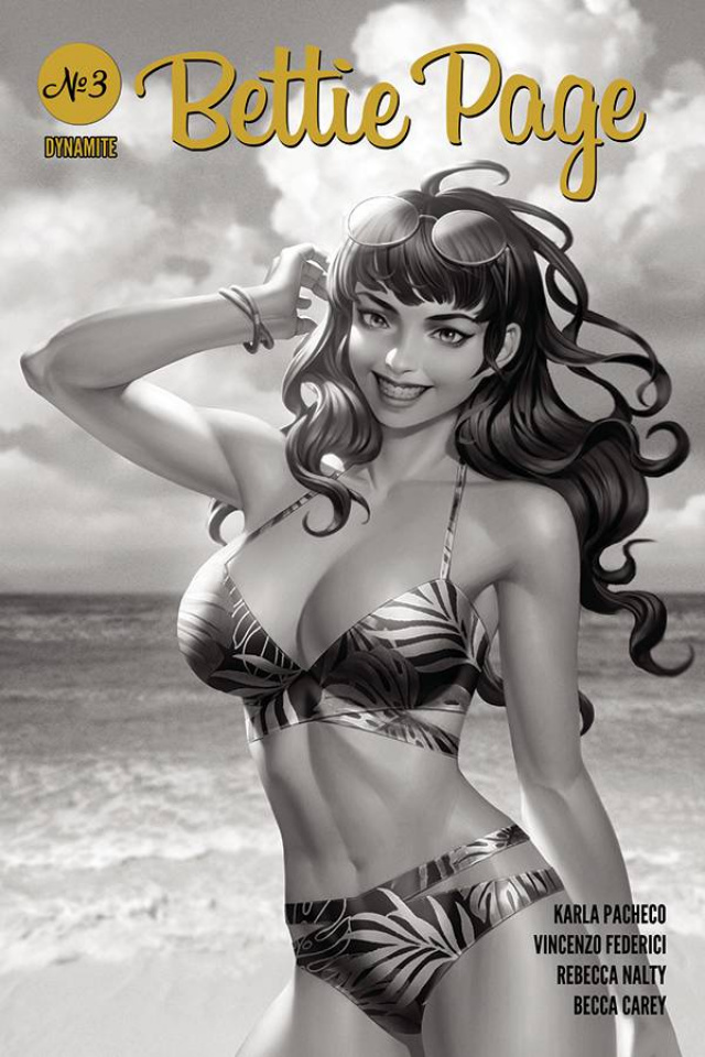 Bettie Page #3 (25 Copy Yoon B&W Cover)