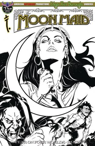 Moon Maid #1 (B&W Cover)