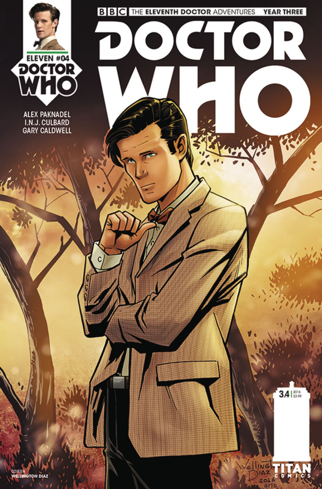 Doctor Who: New Adventures with the Eleventh Doctor, Year Three #4 (Diaz Cover)