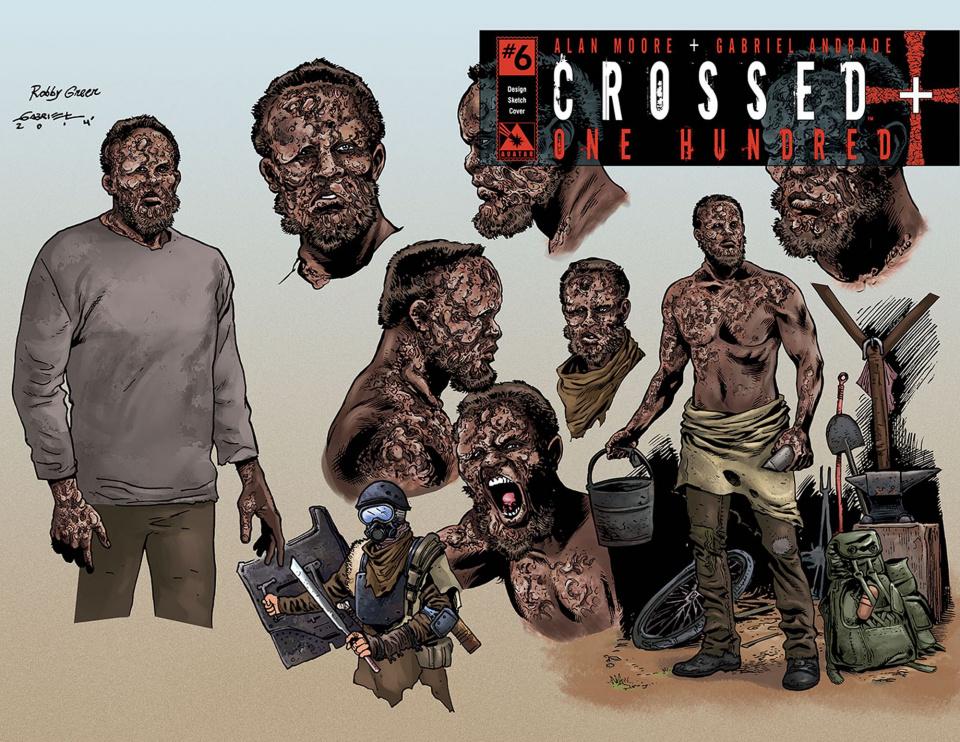 Crossed + One Hundred #6 (Design Sketch Cover)