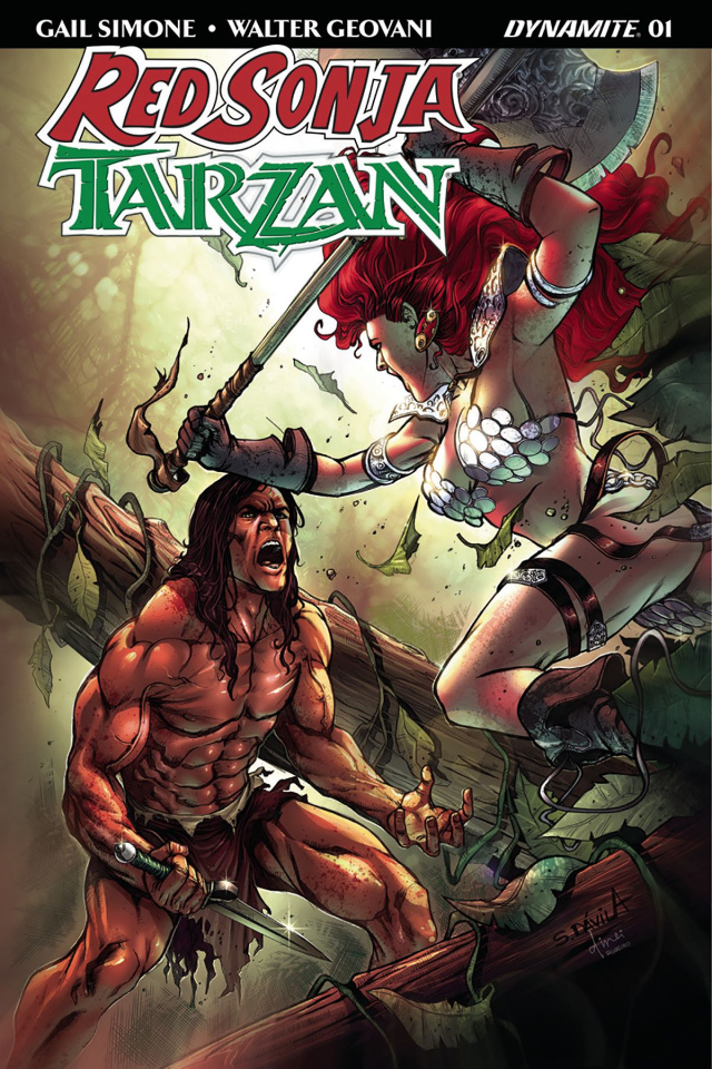 Red Sonja / Tarzan #1 (Subscription Davila Cover)