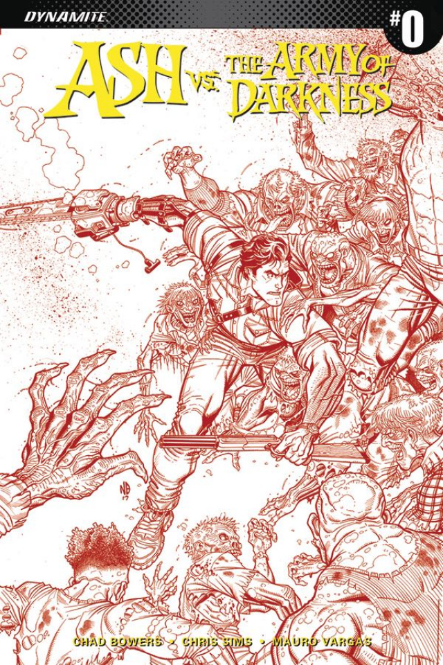 Ash vs. The Army of Darkness #0 (40 Copy Bradshaw Blood Red Cover)