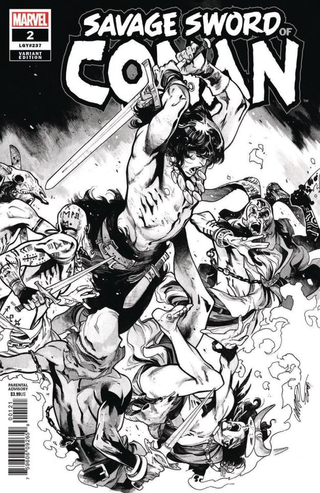 The Savage Sword of Conan #2 (Larraz B&W Cover)
