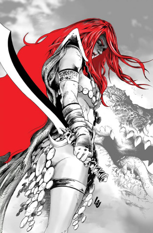 Red Sonja: Black, White, Red #3 (Lau Virgin Cover)