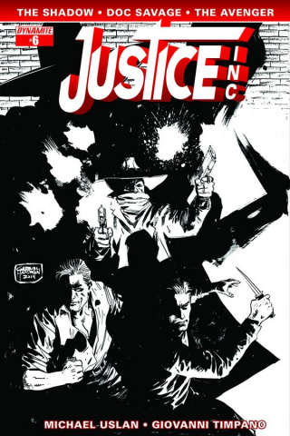 Justice, Inc. #6 (10 Copy Hardman B&W Cover)