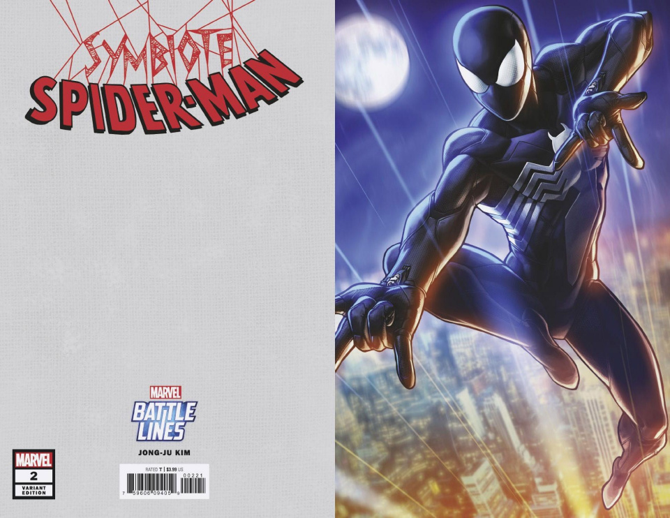 Symbiote Spider-Man #2 (Jongju Kim Marvel Battle Lines Covver)