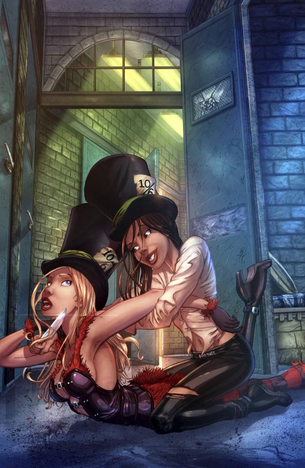 Grimm Fairy Tales: Wonderland - Asylum #4 (Ehnot Cover)