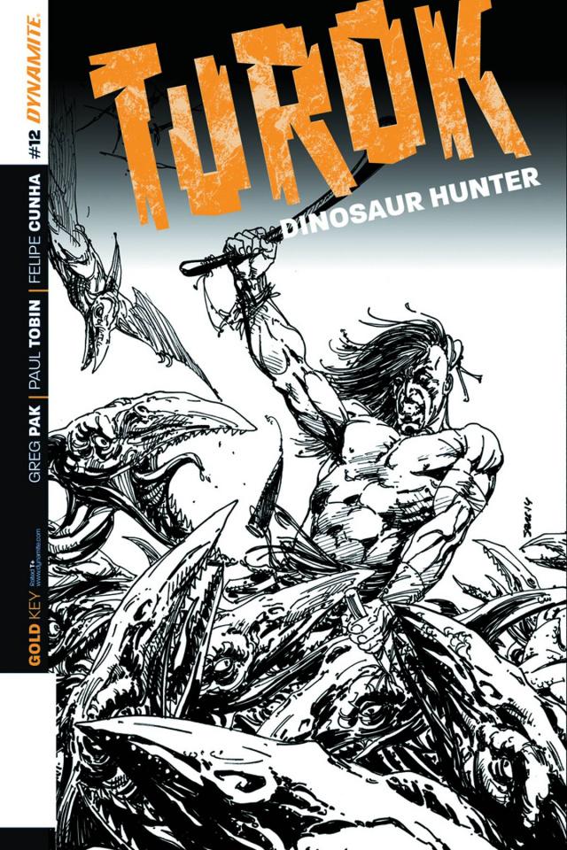 Turok: Dinosaur Hunter #12 (10 Copy Sears B&W Cover)