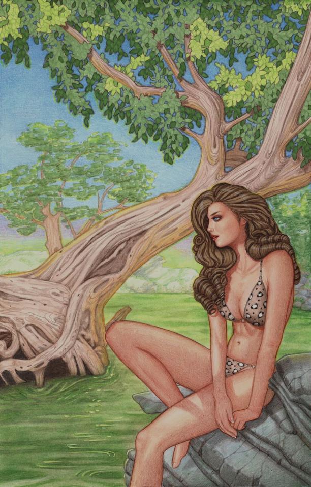 Cavewoman: Starship Blish #2 (Valentina Cover)