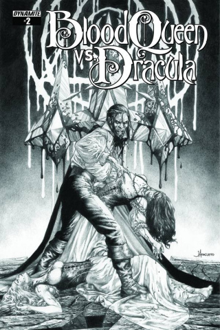 Blood Queen vs. Dracula #2 (10 Copy Anacleto B&W Cover)