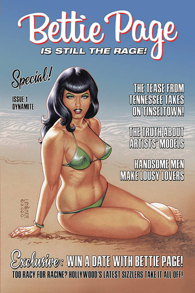 Bettie Page #1 (Linsner Cover)