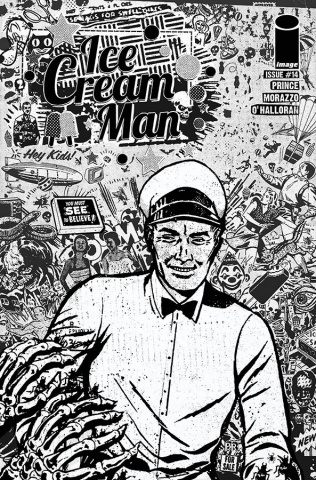 Ice Cream Man #14 (B&W Rentler Cover)
