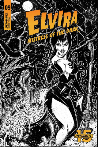 Elvira: Mistress of the Dark #9 (11 Copy Eastman B&W Cover)