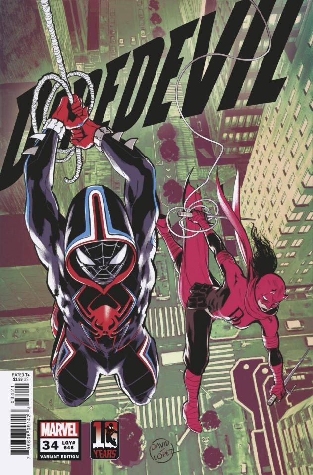 Daredevil #34 (Miles Morales 10th Anniversary Lopez Cover)