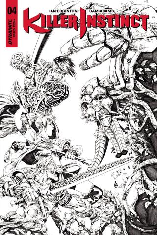 Killer Instinct #4 (10 Copy Lau B&W Cover)