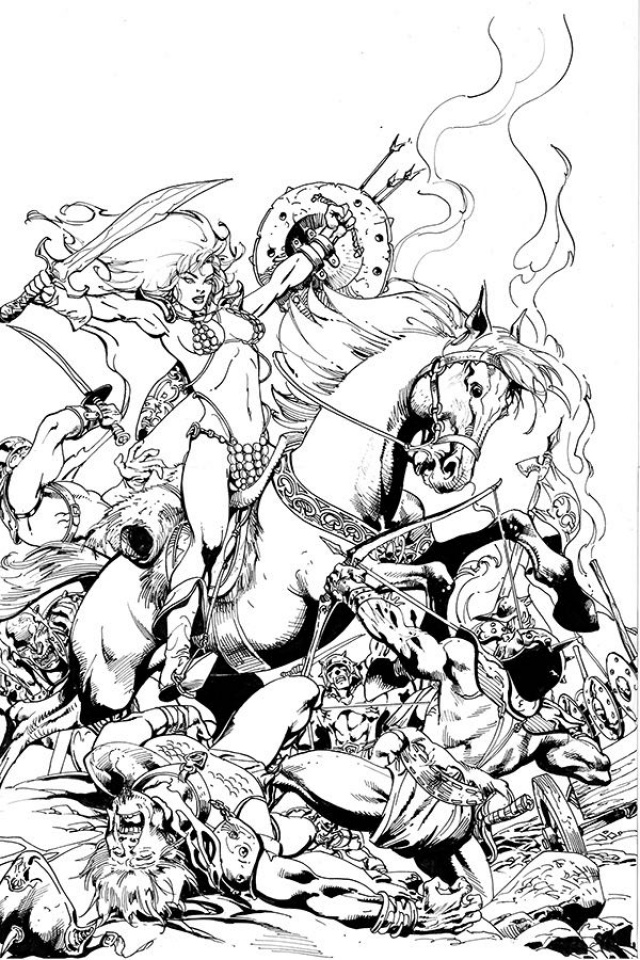 Killing Red Sonja #1 (15 Copy Castro B&W Virgin Cover)