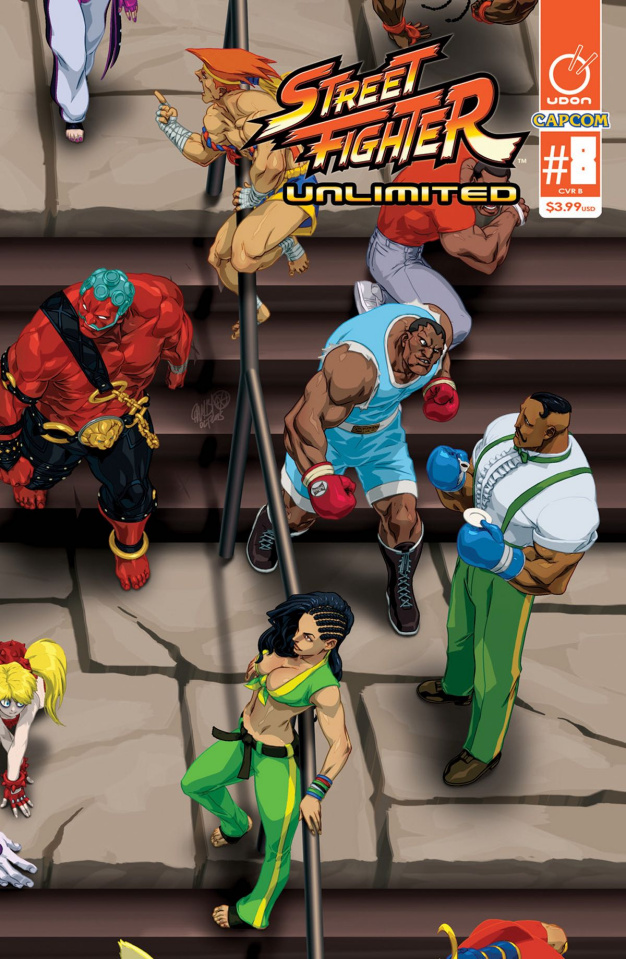 Street Fighter Unlimited #8 (Cruz Ultra Jam Cover)