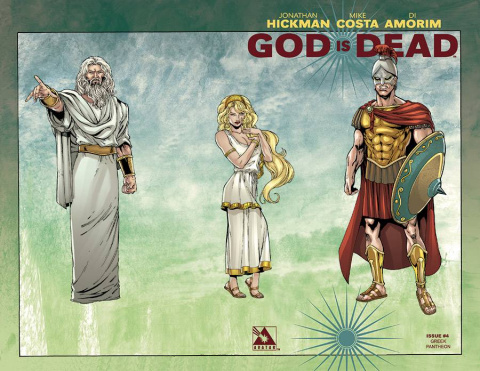 God Is Dead #4 (Pantheon Wrap Cover)